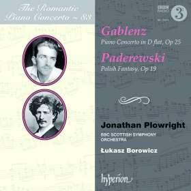 Jerzy Gablenz (1888-1937): Klavierkonzert Des-Dur op.25, CD