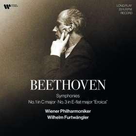 Ludwig van Beethoven (1770-1827): Symphonien Nr.1 & 3 (180g), LP