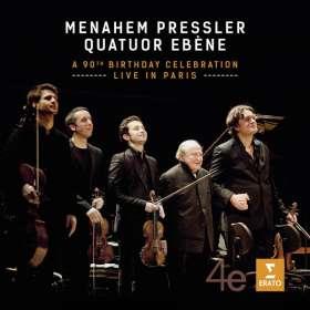 Menahem Pressler & Quatuor Ebene - A 90th Birthday Celebration live in Paris, CD