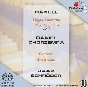 Georg Friedrich Händel (1685-1759): Orgelkonzerte Nr.1-4 (op.4 Nr.1-4), SACD