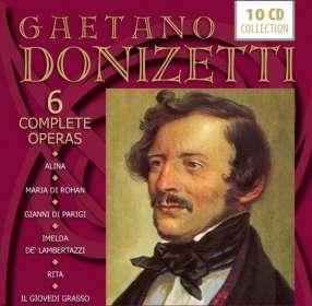 Gaetano Donizetti (1797-1848): 6 Operngesamtaufnahmen, CD