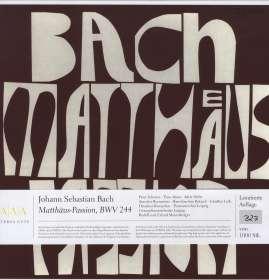 Johann Sebastian Bach (1685-1750): Matthäus-Passion BWV 244 (180g), LP