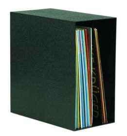 LP-Regal-Box für bis zu 50 LPs, schwarz, ZUB