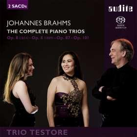Johannes Brahms (1833-1897): Klaviertrios Nr.1-3, SACD