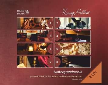 Ronny Matthes: Hintergrundmusik Vol.1 - 8: Gemafreie Musik zur Beschallung von Hotels und Restaurants (Klaviermusik, Jazz & Klassik), CD