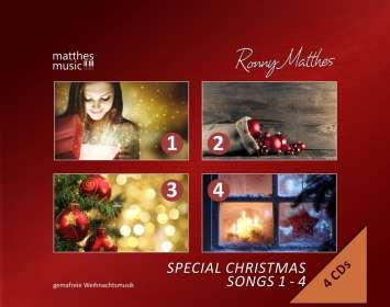 Ronny Matthes: Special Christmas Songs Vol. 1 - 4: Gemafreie Weihnachtsmusik (Die schönsten Weihnachtslieder: deutsch & englisch gesungen), CD