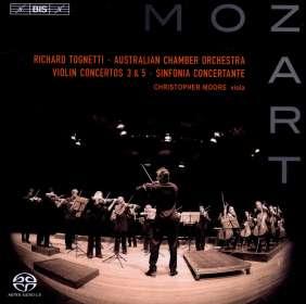 Wolfgang Amadeus Mozart (1756-1791): Violinkonzerte Nr.3 & 5, SACD