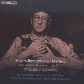 Bohuslav Martinu (1890-1959): Rhapsodie-Konzert für Viola & Orchester, SACD