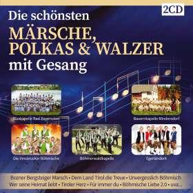 Die schönsten Märsche, Polkas & Walzer mit Gesang, CD