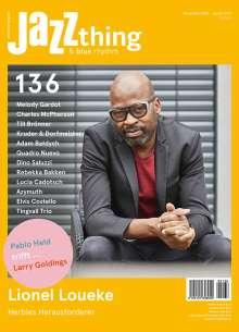 Zeitschriften: JAZZthing - Magazin für Jazz (136) November - Januar 2021, Zeitschrift