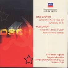 Dmitri Schostakowitsch (1906-1975): Symphonien Nr.13 & 15, 2 CDs