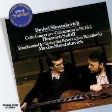 Dmitri Schostakowitsch (1906-1975): Cellokonzerte Nr.1 & 2, CD