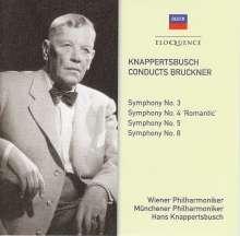 Anton Bruckner (1824-1896): Symphonien Nr.3-5,8, 4 CDs