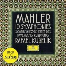 Gustav Mahler (1860-1911): Symphonien Nr.1-10 (mit Blu-ray Audio), 10 CDs und 1 Blu-ray Audio