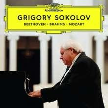 Grigory Sokolov - Beethoven / Brahms / Mozart, 2 CDs und 1 DVD