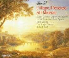Georg Friedrich Händel (1685-1759): L'Allegro, Il Penseroso ed Il Moderato, 2 CDs