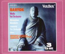 Bela Bartok (1881-1945): Orchesterwerke, 3 CDs
