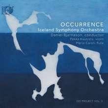 Isländische Musik für Orchester - Occurrence, 1 CD und 1 Blu-ray Audio