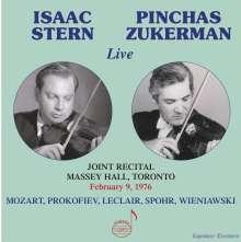 Isaac Stern & Pinchas Zukerman - Live Joint Recital, Massey Hall Toronto 1976, CD