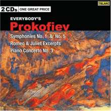 Serge Prokofieff (1891-1953): Symphonien Nr.1 & 5, 2 CDs