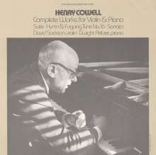 Henry Cowell (1897-1965): Sämtliche Werke für Violine & Klavier, CD