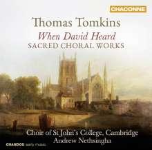 "Thomas Tomkins (1572-1656): Geistliche Musik - ""When David heard"", CD"