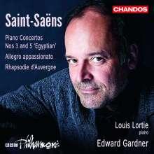 Camille Saint-Saens (1835-1921): Klavierkonzerte Nr.3 & 5, CD