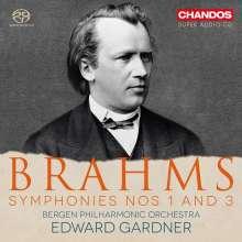Johannes Brahms (1833-1897): Symphonien Nr.1 & 3, SACD