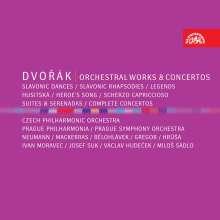Antonin Dvorak (1841-1904): Antonin Dvorak - Orchesterwerke & Konzerte, 8 CDs