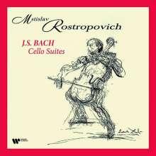 Johann Sebastian Bach (1685-1750): Cellosuiten BWV 1007-1012 (180g), 4 LPs