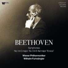 Ludwig van Beethoven (1770-1827): Symphonien Nr.1 & 3 (180g), 2 LPs