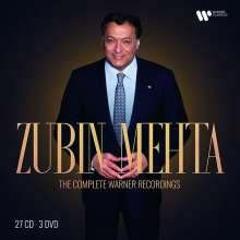 Zubin Mehta - The Complete Warner Recordings, 27 CDs und 3 DVDs