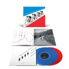 Kraftwerk: Tour de France (180g) (Limited Edition) (LP 1: Translucent Blue Vinyl/LP 2: Translucent Red Vinyl) (2009 remastered), 2 LPs