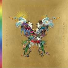 Coldplay: Live In Buenos Aires / Live In São Paulo / A Head Full Of Dreams (Film) (Gold Vinyl), 3 LPs und 2 DVDs