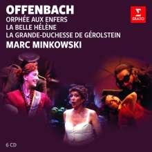 Jacques Offenbach (1819-1880): Mark Minkowski dirigiert Offenbach (3 Opern-Gesamtaufnahmen), 6 CDs