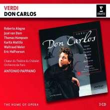Giuseppe Verdi (1813-1901): Don Carlos (in frz.Spr.), 3 CDs