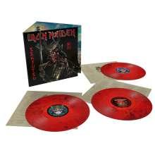 Iron Maiden: Senjutsu (180g) (Limited Indie Edition) (Red & Black Marbled Vinyl), 3 LPs