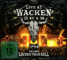 Live At Wacken 2018: 29 Years Louder Than Hell, 2 CDs und 2 DVDs