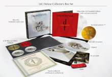 """Dream Theater: Distance Over Time (180g) (Limited-Deluxe-Collector's-Box-Set) (White Vinyl), 2 LPs, 1 Single 7"""", 2 CDs, 1 Blu-ray Disc und 1 DVD"""