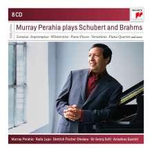 Murray Perahia plays Brahms & Schubert, 8 CDs