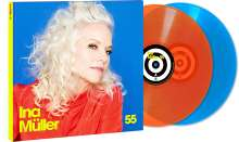 Ina Müller: 55 (180g) (Limited Edition) (Colored Vinyl), 2 LPs