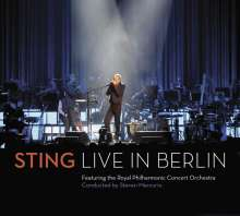 Sting: Symphonicities - Live in Berlin  (CD + DVD), 1 CD und 1 DVD