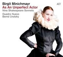 Birgit Minichmayr: As An Unperfect Actor - Nine Shakespeare Sonnets, CD