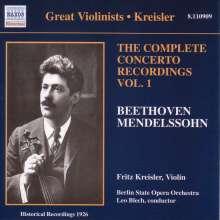 Fritz Kreisler - Complete Concerto Recordings Vol.1, CD
