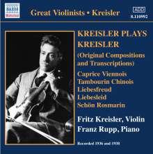 Fritz Kreisler (1875-1962): Kreisler spielt Kreisler, CD