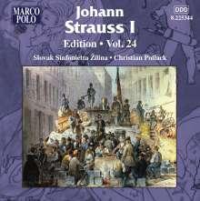 Johann Strauss I (1804-1849): Johann Strauss Edition Vol.24, CD