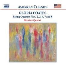 Gloria Coates (geb. 1938): Streichquartette Nr.2-4,7,8, CD