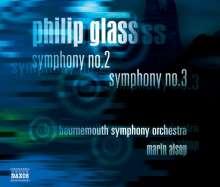 Philip Glass (geb. 1937): Symphonien Nr.2 & 3, CD