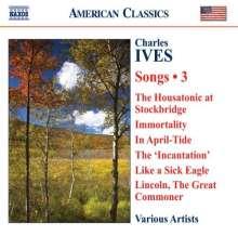 Charles Ives (1874-1954): Lieder Vol.3, CD