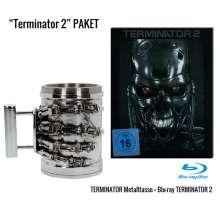 Terminator 2: Tag der Abrechnung (Geschenkset mit Tasse T-800 Metallhand) (Blu-ray im Steelbook), 1 Blu-ray Disc und 1 Merchandise